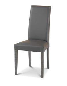 Art. 174/VC, Sedia da pranzo imbottita, con schienale alto