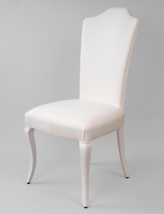 Sedie In Legno Laccate Bianco.Sedia Imbottita In Legno Laccato Bianco Idfdesign