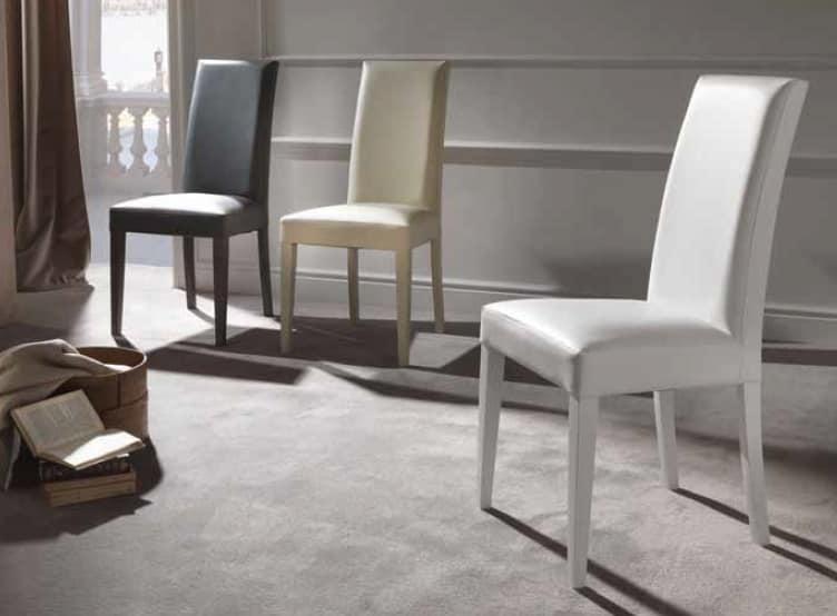 Comoda sedia imbottita per sala da pranzo | IDFdesign