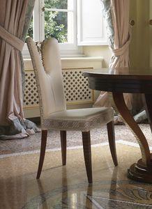Grand Etoile Art. GE042/AR, Sedia da pranzo, con elegante decoro intagliato