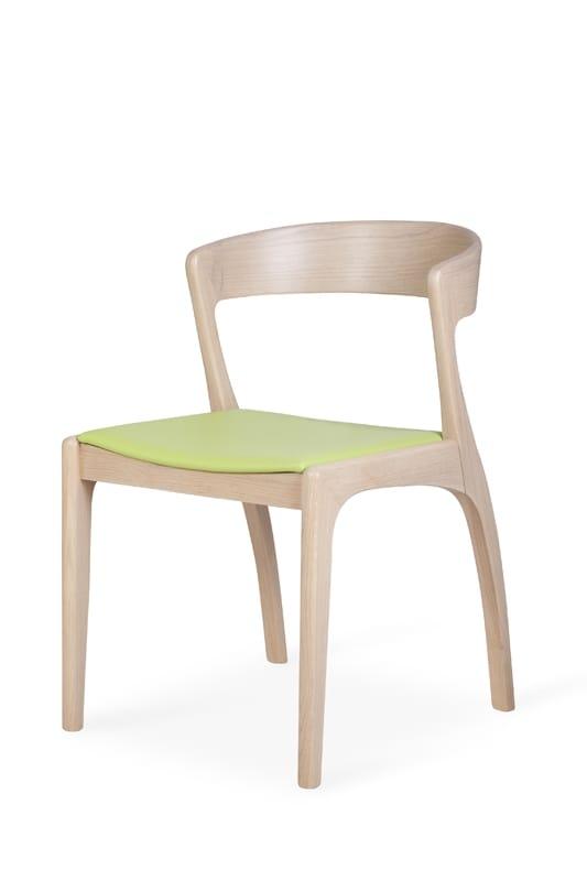 Comoda sedia in legno dal design moderno e sinuoso idfdesign for Sedia design comoda