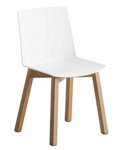 Jubel BL, Sedia con struttura in legno di faggio