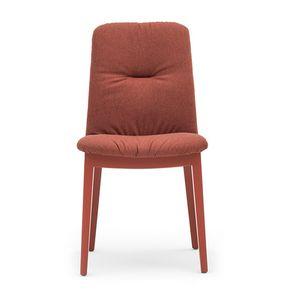 Light 03212, Sedia in legno, con seduta e schienale imbottiti