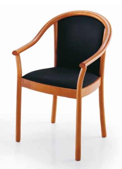 Sedie In Legno Imbottite.Sedia Con Braccioli Imbottita Per Uso Contract Idfdesign