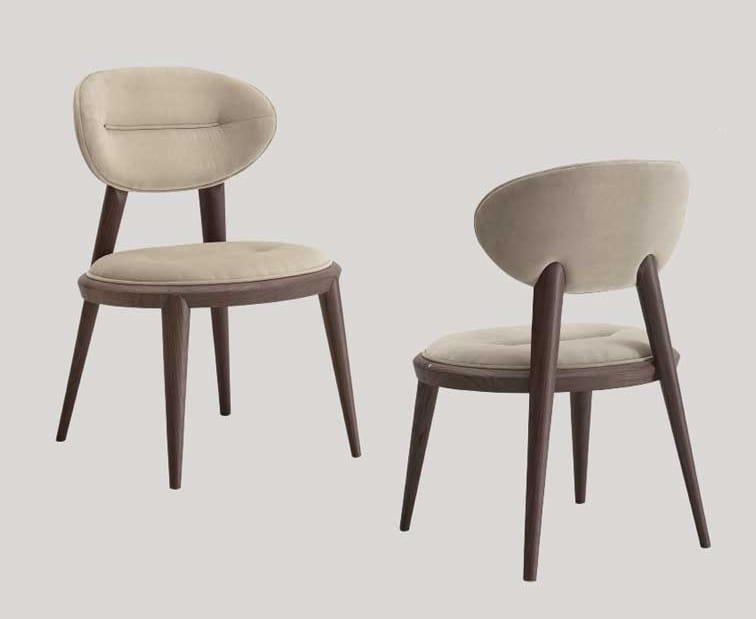 Sedia Imbottita Design : Sedia imbottita con piede spillo idfdesign