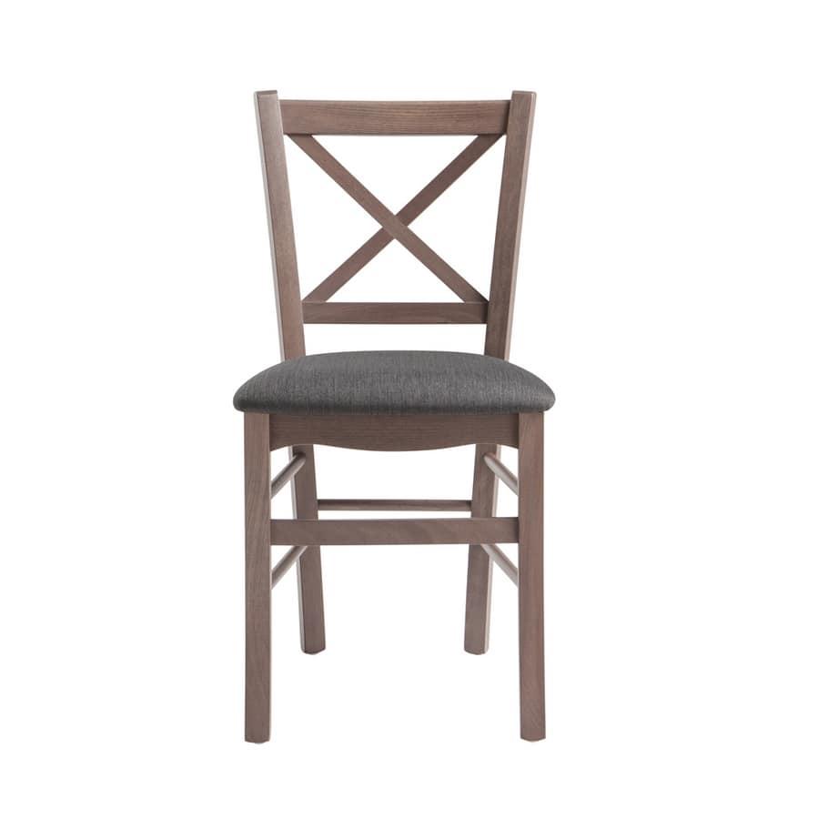 RP42Q, Sedia in legno con schienale a croce