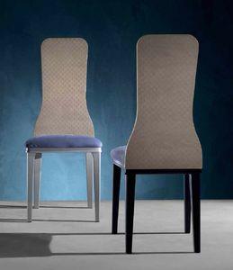 SE56 Optical Skin, Sedia con schienale in legno con lastra a disegno 3D