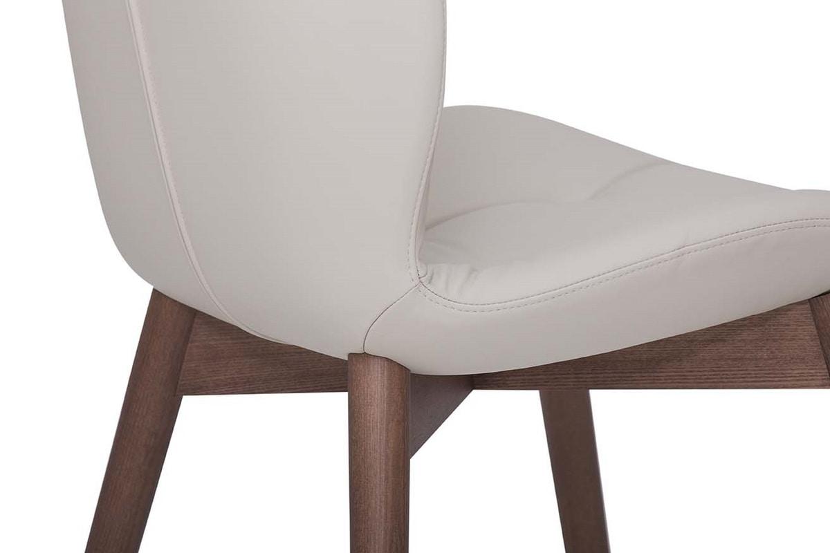 SORRENTO EASY, Sedia o poltroncina con struttura in legno senza cordonatura