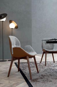 SORRENTO �SPRIT, Sedia o poltroncina con struttura in legno senza cordonatura