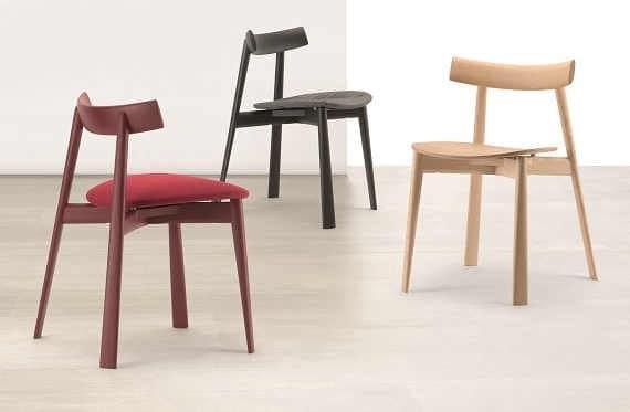 Sedia moderna impilabile in legno idfdesign