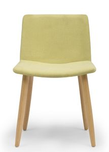 Web, Sedia con gambe in legno e scocca imbottita