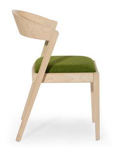 Zanna, Sedia in legno con schienale arrotondato