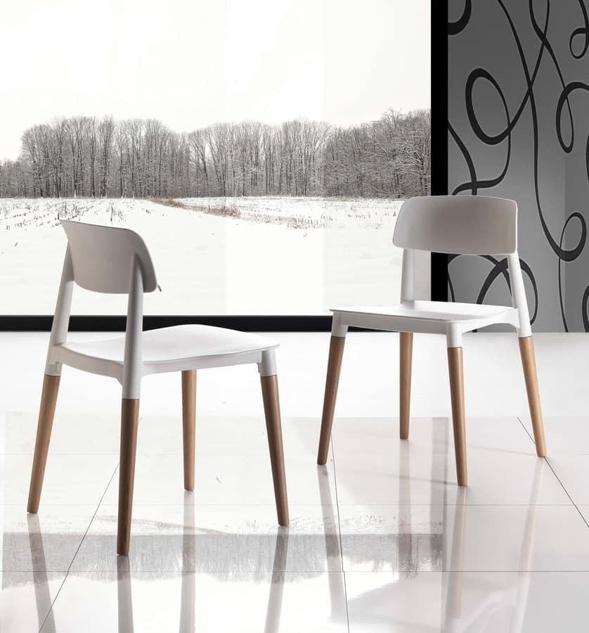 Sedia salvaspazio comoda ed impilabile idfdesign - Sedie in legno design ...