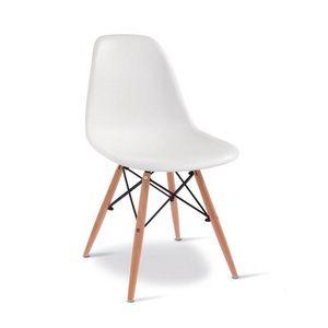 D10, Sedia in legno con scocca in plastica