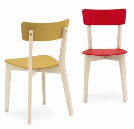 Sedute In Plastica Per Sedie.Sedia In Legno Con Seduta In Plastica Idfdesign