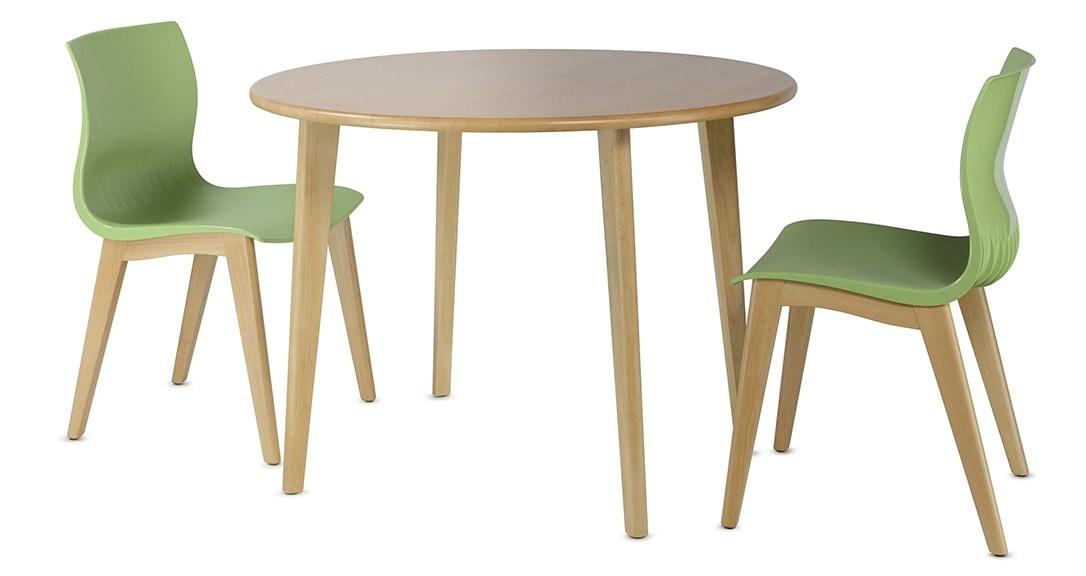 WEBBY 345, Sedia in plastica e legno