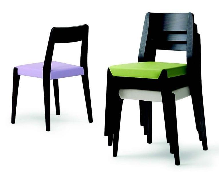 143 Cotton, Elegante sedia impilabile