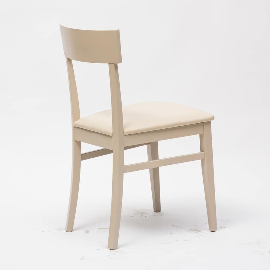 Art. 095 New Age, Sedia in legno, per ambienti residenziali, bar e ristoranti