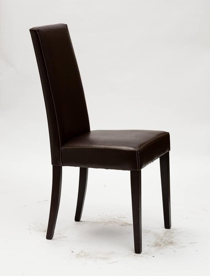 Art. 120 Vertigo Lux, Sedia per sala da pranzo, imbottita, finiture personalizzabili