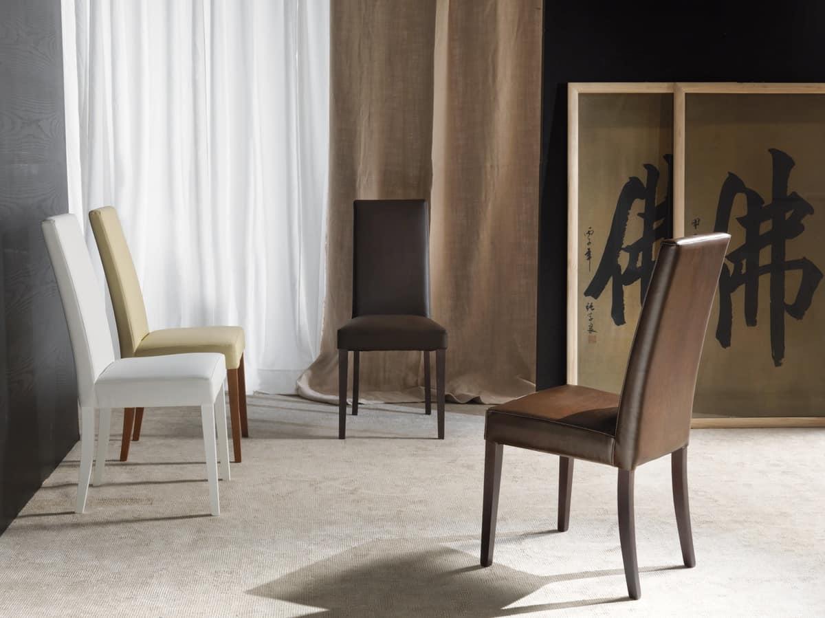 Sedia Per Sala Da Pranzo Imbottita Finiture Personalizzabili  #614E3D 1200 899 Sala Da Pranzo Barocco Moderno