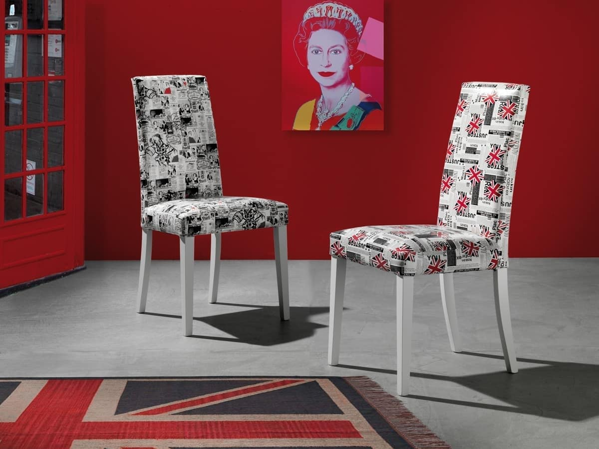 Sedia da pranzo con rivestimento ecopelle varie fantasie for Rivestimento sedie