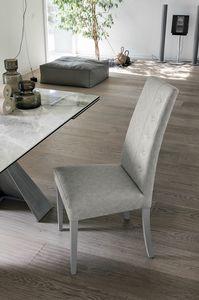 BELLINZONA SE507, Elegante sedia da pranzo con schienale alto