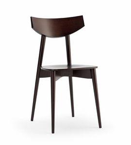 DAYANA legno, Sedia con seduta in multistrato, per bar e cucina