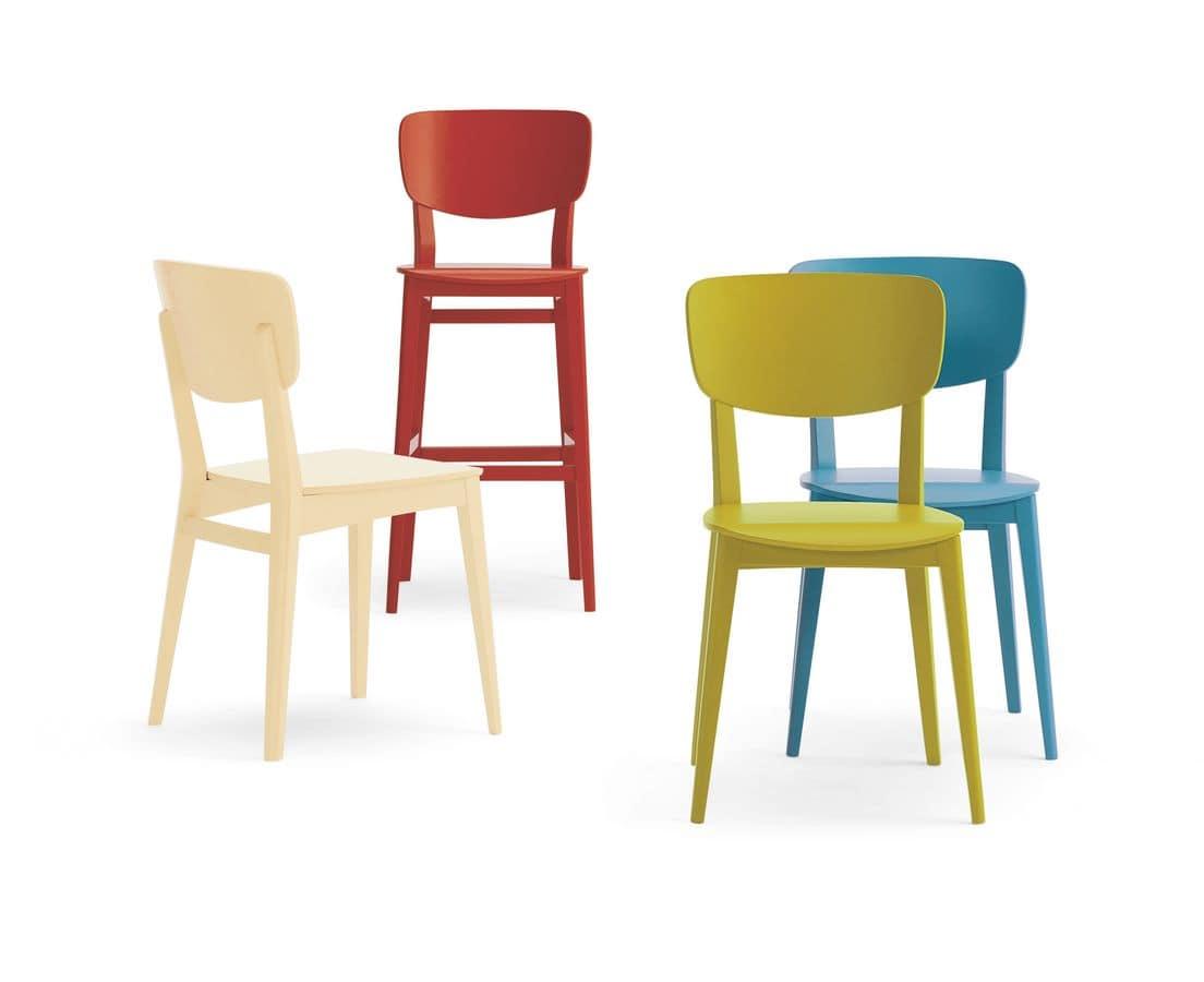 Sedia in faggio seduta imbottita per utilizzo contract for Sedie cucina imbottite