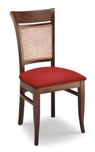 Gloria INC, Sedia in faggio, seduta imbottita, schienale in canna