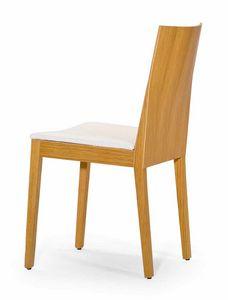 Luna UPH seat, Sedia in legno dalle forme rigorose