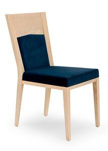 Nico PLUS, Elegante sedia in legno imbottita