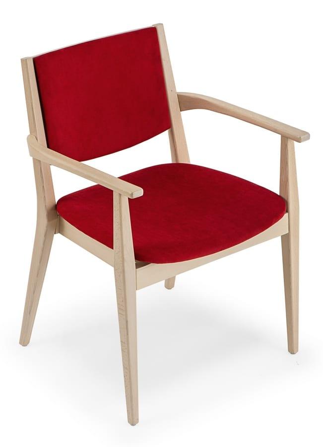 Sedia imbottita con braccioli | IDFdesign