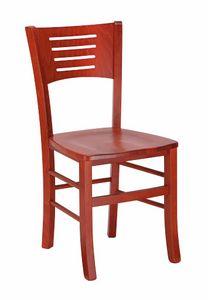 103, Sedia in legno di faggio, con seduta personalizzabile