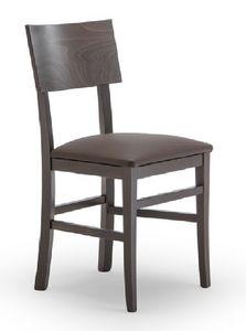 165, Sedia in legno di faggio, per uso contract