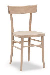317, Sedia in legno di faggio massello