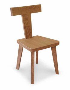 Art. 178/S, Sedia in legno, con schienale a forma di T