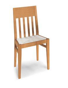 Art. 191/S, Sedia in legno, con seduta in paglia