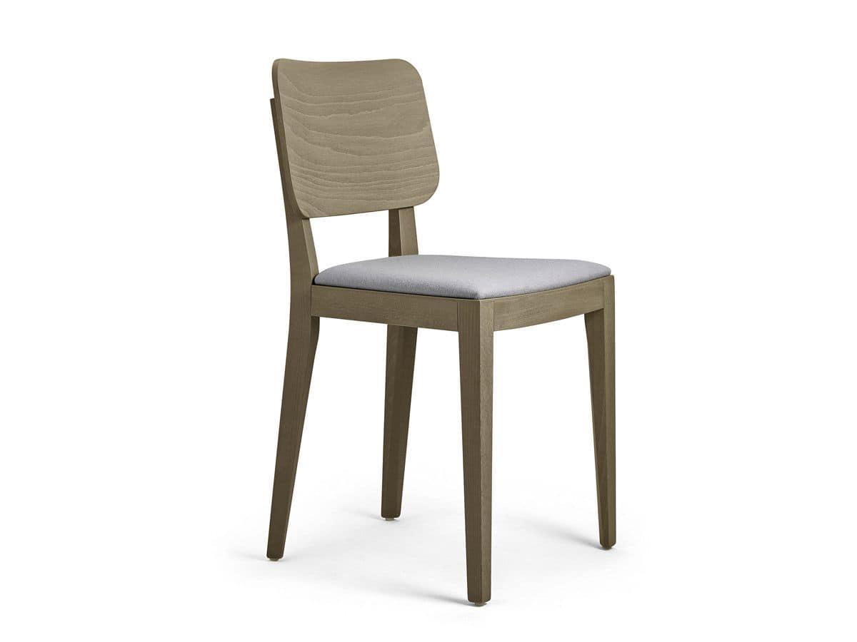 Sedia in faggio massiccio per bar e ristoranti idfdesign for Sedie moderne per tavolo in legno
