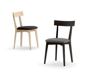 Cippy 10020, Sedia in legno, con seduta imbottita
