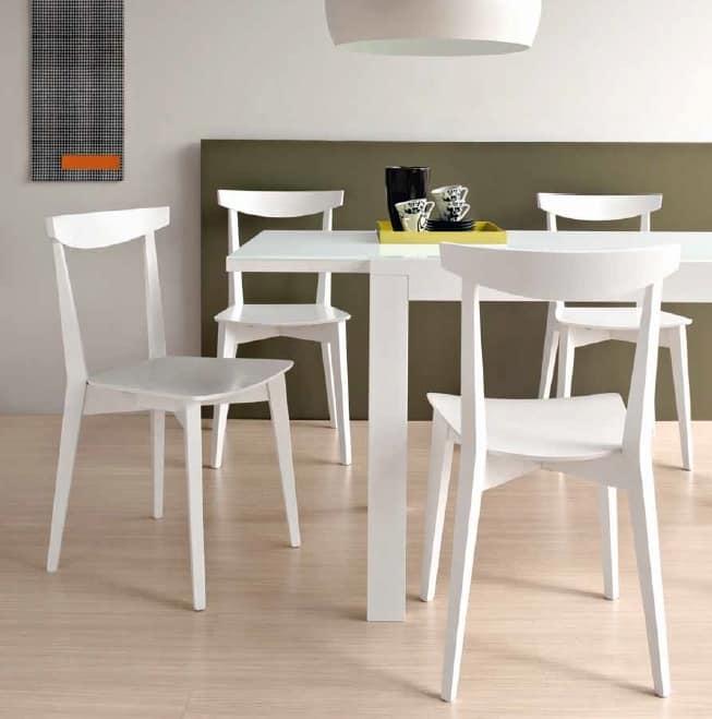 Sedia in legno per cucina | IDFdesign