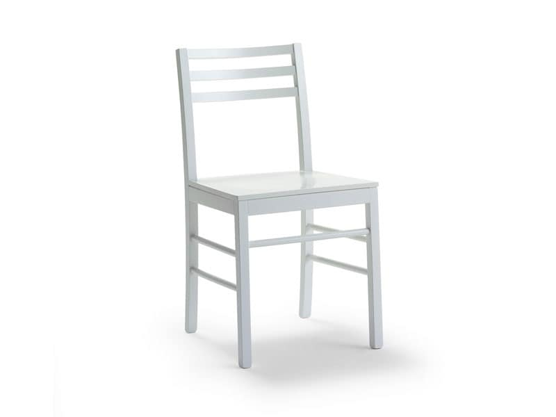 FOGGIA3, Sedia in legno di faggio verniciato o laccato