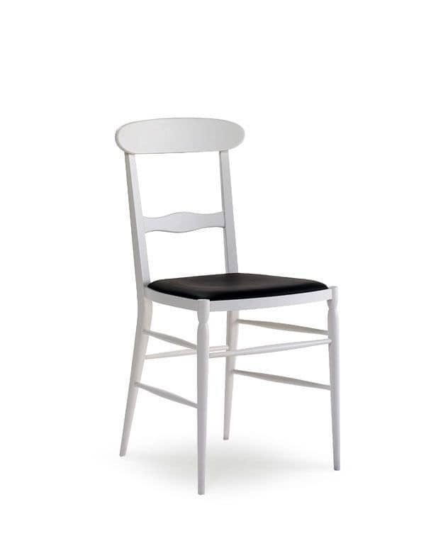 Sedia semplice in legno per soggiorno e sala da pranzo for Sedie in legno per soggiorno