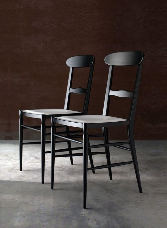 Sedia semplice in legno per soggiorno e sala da pranzo for Sedie in legno per sala da pranzo