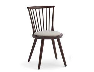 Isolda-S, Sedia in legno con seduta imbottita