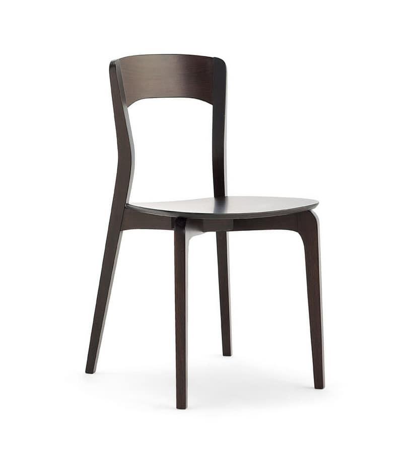 Sedia in legno di frassino seduta multistrato idfdesign for Sedie di design in legno