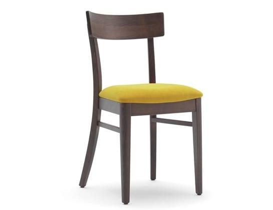 Sedia per ristorante con seduta imbottita idfdesign