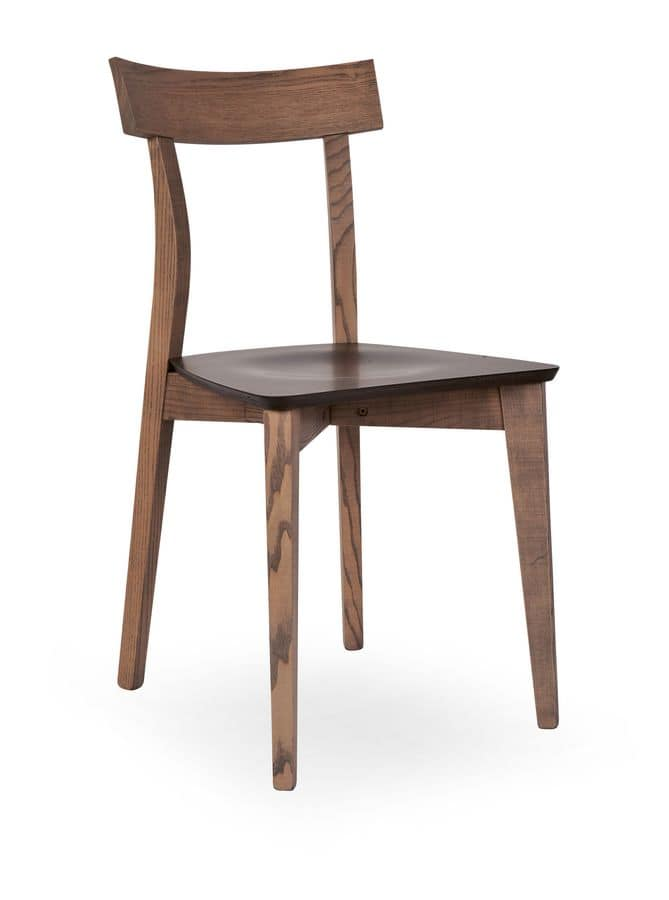 Sedia in legno di faggio per ristoranti e bar idfdesign - Sedie in legno design ...