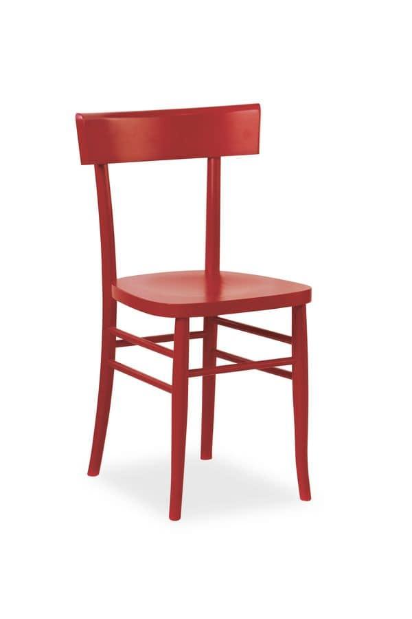 Sedia in legno di faggio in vari colori idfdesign for Sedie design milano