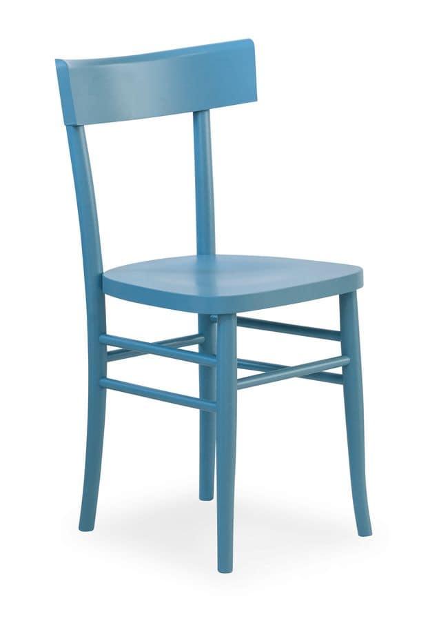 Sedia in legno di faggio in vari colori idfdesign - Sedie in legno design ...