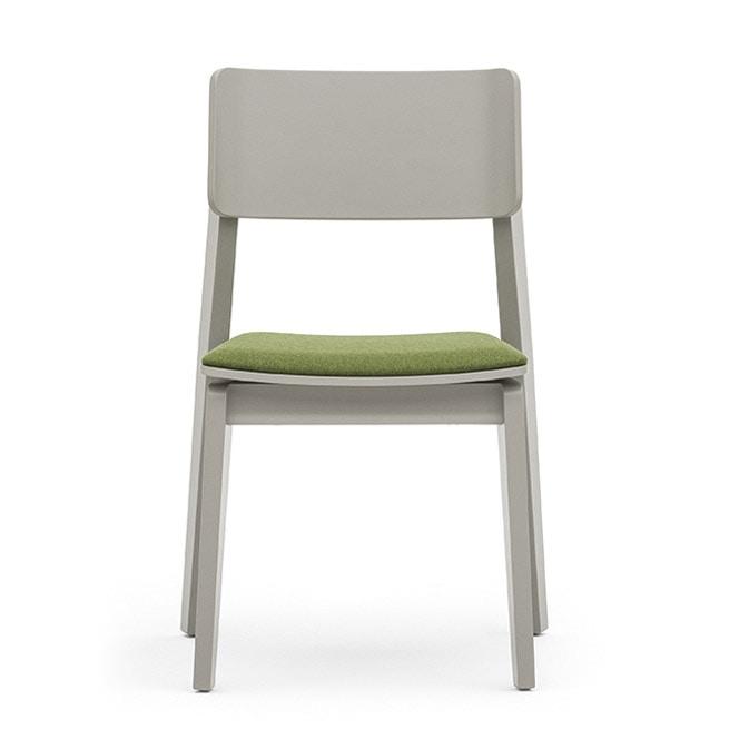 Versatile sedia in legno con seduta imbottita idfdesign for Sedia design srl